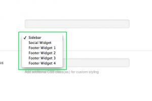 6.widgetizedモジュールの方はサイドバーやフッターエリアをまるっと配置したいときに使います。