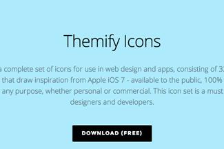 Themifyのiconセットがフリーでダウンロードできますよっと