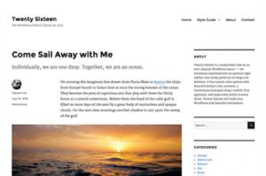 WordPress-TwentySixteen-image0